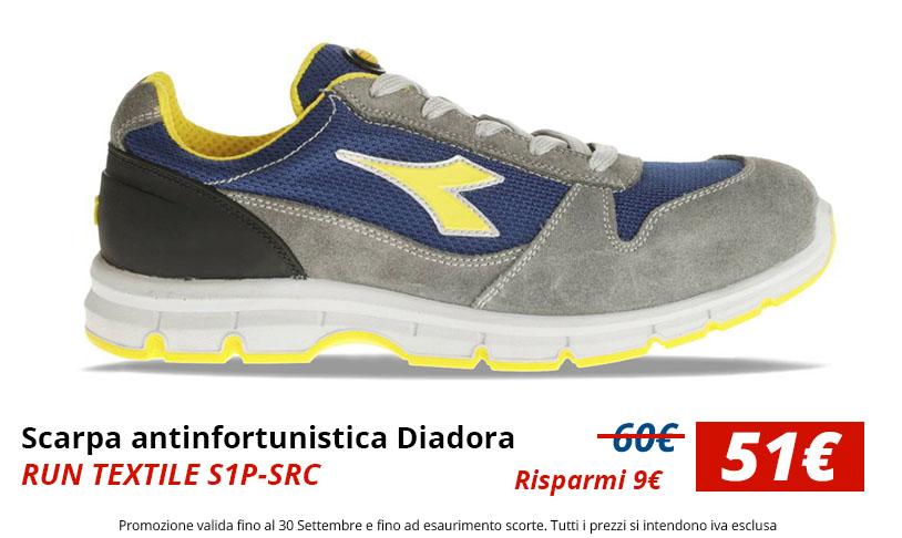 Prezzo speciale Scarpa antinfortunistica Diadora RUN TEXTILE S1P-SRC