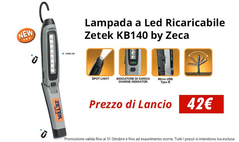 Lampada a LED Ricaricabile Zetek KB140