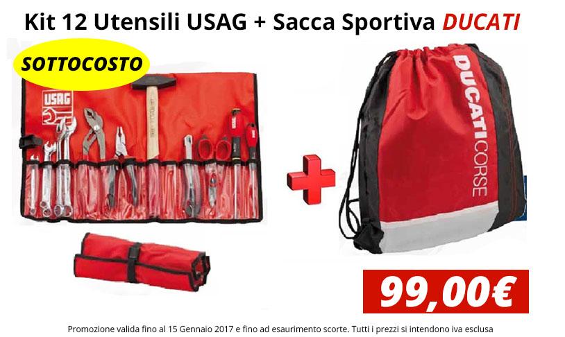 Kit 12 Utensili + Sacca Sportiva Ducati in Omaggio