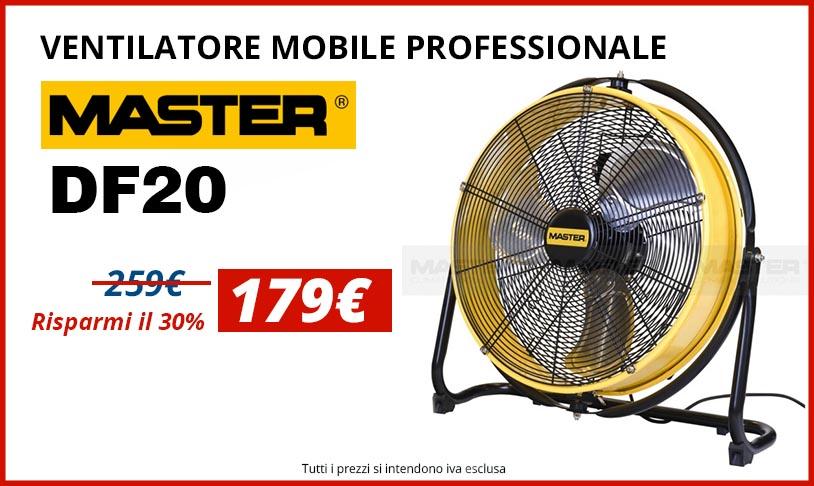 Ventilatore mobile professionale df20 della master for Ventilatore verticale