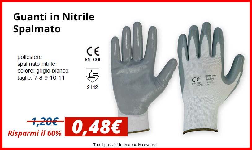 SCONTO 60%: Guanti in Nylon / Nitrile - Grigi