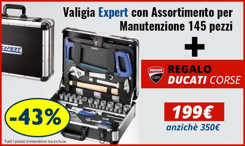 Valigia Pastorino EXPERT con assortitimento 145pezzi + Regalo Ducati Corse